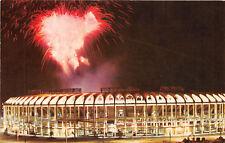 ST LOUIS MO 1966 Fireworks Display Over Busch Stadium VINTAGE BASEBALL GEM rl451