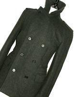 MENS GIEVES & HAWKES SAVILE ROW HEAVY PEACOAT OVERCOAT COAT JACKET 40R UK 50 EUR