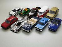 10 x Modellautos Konvolut 1:43 (DEFEKT) von Altaya/IXO/Atlas/Minichamps/Norev