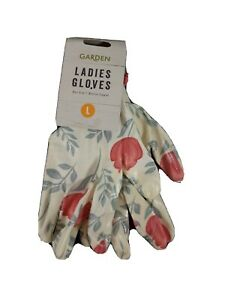 Pair of Ladies Floral Gardening Gloves BNWT, Size Large (8)
