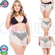 Coqueta Sarong Bathing Suit Wrap White Bikini Bathing Suit Cover Up PLUS SIZE!