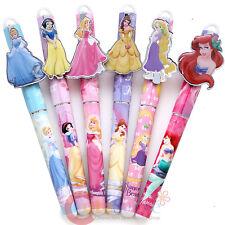 Disney Princess Ball Point Pen 6pc Set Black Ink Cinderlla Ariel Snow White Bell