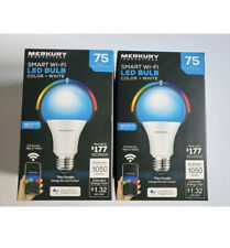 Merkury Innovations Color Smart A21 Light Bulb, 75W Equivalent 2-pack