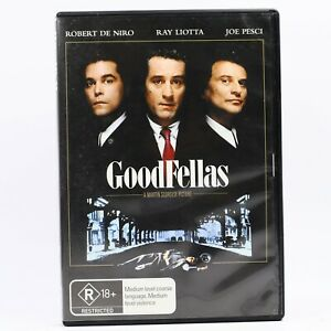 Goodfellas Martin Scorcese Robert De Niro Joe Peschi Sharon Stone DVD R4 GC