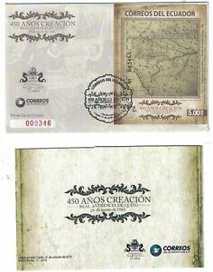 "2013 ECUADOR FDC Cover & Booklet-450th Anniv Quito's Royal Audience,Quito ""2"" R5"
