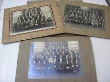 Lot 3 photos de classe Ecole Turgot Paris 1931-32 & 33 Pierre Petit Louis Fréon