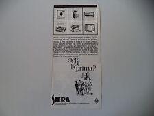 advertising Pubblicità 1963 SIERA LAVATRICI/RADIO/TELEVISORE/GIRADISCHI