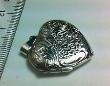 STERLING SILVER BEAUTIFUL HEART SHAPE PHOTO LOCKET CHARM PENDANT 25MMx25MM