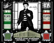 ELVIS PRESLEY SIGNED RP PHOTO APR 2, 1957 W/ MAPLE LEAF GARDENS RED-GREEN SEAT