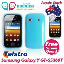 TPU Gel Jelly Case Cover for Telstra Samsung Galaxy Y S5360T - Blue