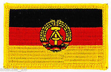 PATCH ECUSSON BRODE DRAPEAU ALLEMAGNE RDA DDR INSIGNE THERMOCOLLANT NEUF FLAG