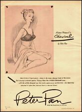 1955 Vintage ad for Hidden Treasure in Charcoal Bras by Peter Pan (092312)
