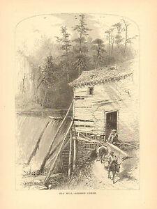 North Carolina, French Broad River, Reems's Creek, Vintage, Antique Art Print,