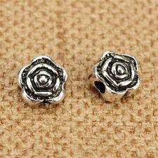 30pc Tibetan Silver Rose Flowers Spacer Beads Jewellery Making Wholesale N119