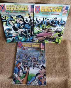 Epic Battles Of The Civil War 2-4 Marvel Historical Comics Set New Condition