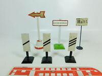BR783-0,5# 6x Spur 1 (?) Schilder: Warnbake+Warnschild etc (1x Märklin, 1x Bing)