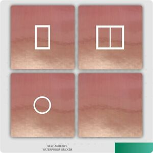Brushed Rose Gold UK Light Switch Stickers, Living Room Bedroom Nursery Decor