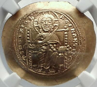 Jesus Christ Ancient 1059AD Gold Byzantine Coin of CONSTANTINE X NGC MS i82356