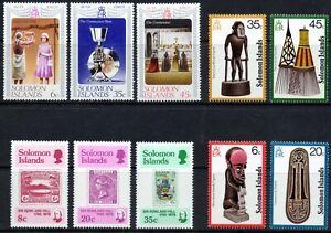 Solomon Islands 1977-1979 QEII 3 complete sets of mint stamps LMM