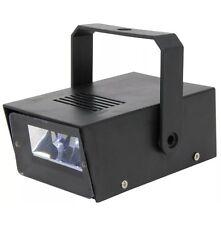 MINI LED STROBE LIGHT MULTI SPEED FLASHING EFFECT BATTERY POWERED PARTY DISCO DJ