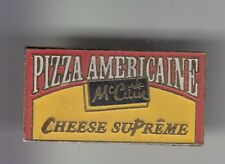 RARE PINS PIN'S ..  ALIMENT FOOD MC CAIN FRANCE PIZZA AMERICAINE CHEESE ~DQ