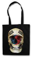 CLASSIC SOUTH KOREA SKULL FLAG Hipster Shopping Cotton Bag - Biker Banner