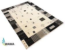 Hochwertiger Gabbeh Teppich Naturfarben beige 140X200 cm 100% Wolle Handgeknüpft