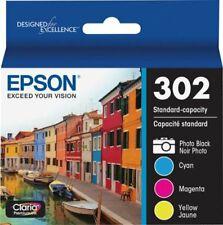 Epson 302 Photo Black/Color Ink Cartridge, Standard Yield, 4/Pack Bulk Package