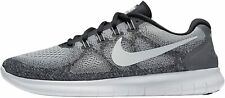 Nike Free RN 2017 Mens Wolf Grey/Off White Pure Platinum Black Knit Shoes US 8.5