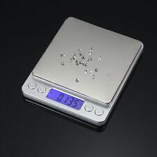 0.1g-2000g Digital LCD Electronique Balance Précision Pèse Cuisine Scale Acier