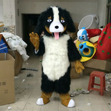 Long Fur Poodle Dog Mascot Clothes Animal Unisex Dress Cosplay Animal Party Suit