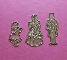 Die cutting - matrice de coupe - carolers personnage x3 - Noel hiver  Christmas