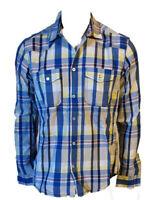 Camicia Casual Sportiva Quadretti Manica Lunga Uomo 100%Cotone Jack & Jones M