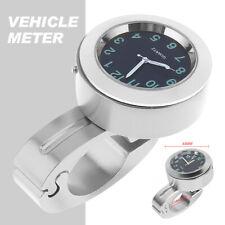 Aluminum Bike Motorcycle Handlebar Waterproof Mini Mount Dial Watch Clock