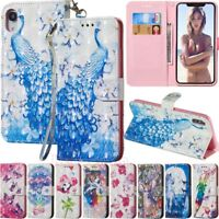 For iPhone XS XR 5s 6s 7 8 Plus Wallet Card Holder Flip Leather Phone Case Cover