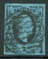 GERMANY STATES SAXONY SCOTT# 7 MICHEL# 7 USED AS SHOWN