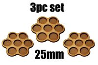 Game Movement Tray 7 pc Trays 25mm base for Warhammer  40k Age of Sigmar 3pc set