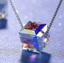 Fashion Halskette unsichtbare Nylon Kette schwebendes Herz Damen Mode Schmuck