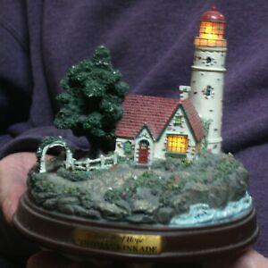 THOMAS KINKADE'S BEACON OF HOPE LIGHTHOUSE SCULPTURE  Lights Up!