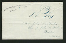 Schuylerville NY 1841 2-Line Straightline On Stampless Cover, Includes Mo & Year