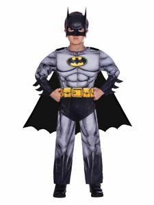 Childs Batman Fancy Dress Superhero Costume DC Comic Book Day Week Boys Kids