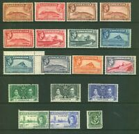 GIBRALTAR Mint Selection of kgv - kgv1 Stamps Unchecked.