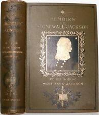 VERY RARE 1895 MEMOIRS OF STONEWALL JACKSON BY WIDOW MARY ANNA JACKSON CIVIL WAR