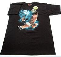 T- Shirt Gr.140 Bushfire OVP 100% Baumwolle leuchtet schwarz kinder sommer ssv