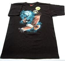 T- Shirt Gr.128 Bushfire OVP 100% Baumwolle leuchtet schwarz kinder sommer