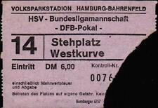 Ticket DFB-Pokal Halbfinale 73/74 Hamburger SV - Kickers Offenbach, Westkurve