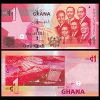 Ghana 1 Cedi, 2015, P -37 NEW, UNC