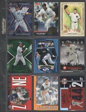 ALEX RODRIGUEZ ~ Lot of (9) Different Baseball Insert Cards w/ Sheet RARE! (A4)