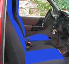 Ford Ranger 60/40 Seat Covers Blue & Black Canvas Front Set