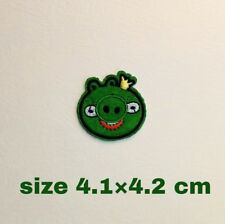 1 piece Angry birds Cartoon Patches iron on Fabric Sticker for clothes.